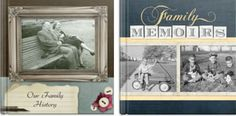 Mixbook has two family history templates as well as an Our Story theme.