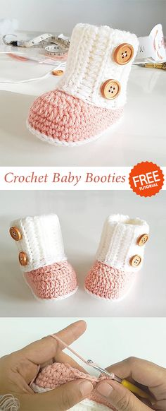 Baby Booties Crochet, Who doesn't love sweet little infant toes? Unfortunately, these toes may also get chill Stylish Crochet baby booties pattern Crochet Baby Boots, Baby Girl Crochet, Crochet Baby Clothes, Crochet For Kids, Crochet Slippers, Knitted Baby, Diy Crochet Shoes, Knit Baby Booties, Crochet Diy