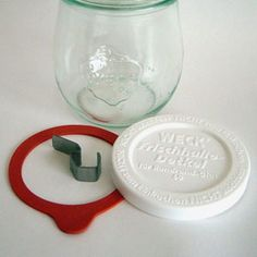weck jar with cover lid