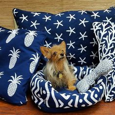 Our Doggie 🐶 Cabana bed 🛌 are made with top of the line outdoor performance fabrics!