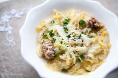 EASY, hearty and simple Italian peasant stew with cabbage, parsley and Italian sausage. On SimplyRecipes.com