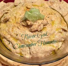 Flavor God Cucumber Hummus Recipe #delicious #appetizer