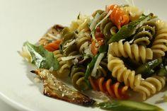 Barilla Tri-Color Rotini Salad with Arugula, Roasted Artichokes and Asparagus with Shredded Parmigiano-Reggiano Cheese