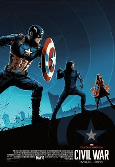 Captain America Civil War Team Cap IMAX Poster Captain America: Civil War AMC Posters & Concept Art