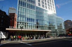 Berklee College of Music has opened its new 16-story tower along Massachusetts Avenue in the Back Bay. Dave Green / Berklee College of Music