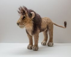 August the Lion Needle Felted by TheWoolenWagon on Etsy
