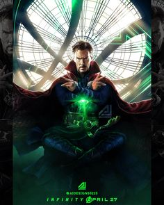 Cool edit of Doctor Strange Marvel Doctor Strange, Doctor Strange Poster, Marvel Fan Art, Marvel Dc Comics, Marvel Heroes, Marvel Avengers, Doctor Strange Benedict Cumberbatch, Marvel Characters, Marvel Movies