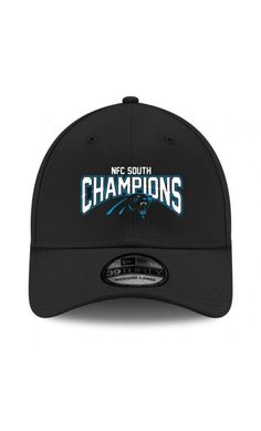 NFL Men s Carolina  Panthers New Era Black 2015 NFC South Division  Champions 39THIRTY Flex Hat  SportsGear 4a0f3d26538e