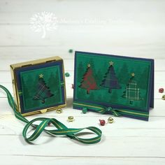 Learn two awesome paper crafting tips, and see three fun Christmas projects that are made using the Wrapped in Plaid product suite by Stampin' Up! Christmas Cards To Make, Xmas Cards, Handmade Christmas, Greeting Cards, Christmas Trees, Card Making Tutorials, Card Making Techniques, Homemade Birthday Cards, Magnolia Stamps