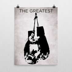 """Muhammad Ali """"The greatest"""" Poster by Geek me that. Muhammad Ali """"The greatest"""" Poster by Geek me that Museum-quality posters made on thick, durable, matte paper. A statement in any room. These puppies are printed on archival, acid-free paper. - Printer Using Epson UltraChrome water based HDR ink-jet technology Basis Weight: 192 gsm Media Thickness: 10.3 mil (0.26 mm) ISO Brightness: 104% Opacity: 94% -Luster Paper Epson Ultra Premium Luster Photo Paper Between a gloss and matte finish..."""