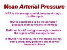Mean Arterial Pressure (MAP) Definition and Body Requirements