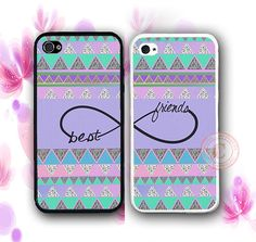 Purple Aztec BFF Best Friends iPhone Case -
