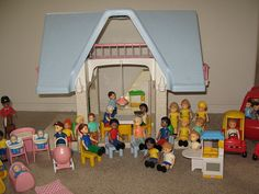 A FAVORITE obsession-- ~ Little Tykes doll house, people, furniture