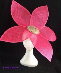 Fascinator by Emms Millinery Facinator Hats, Sinamay Hats, Fascinator Headband, Fascinators, Headpieces, Fuchsia Flower, Ascot Hats, Hats For Women, Ladies Hats