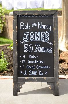 50th Anniversary Decor