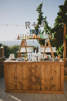 Couture Events: Vendor Love :: Farm Tables and More Rustic Bar