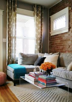 Keeps The Room Looking Airy Especially With A Larger Sectional. Could ·  Small Living Room DesignSmall ...