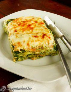 Spenótos lasagne Hungarian Recipes, Hungarian Food, Quiche, Paleo, Gluten Free, Homemade, Vegan, Healthy, Breakfast