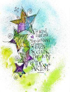 Art du Jour by Martha Lever: More stars...