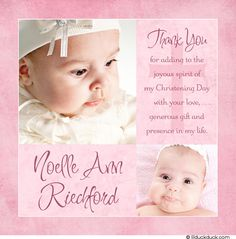 Rose baptism thank you card photo daughter windblown showcase christening thank you wording modern girl baptism thank you card cross customizable name stopboris