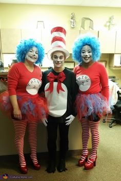 the cat in the hat and thing 1 thing 2 costume halloween costume contestcostume ideasdiy - Cat In The Hat Halloween Costume Ideas