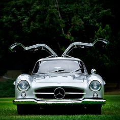 """1956 300SL """"Gullwing"""" of Bill Baker at 2012 San Marino Motor Classic Concours. Photo by Royce Rumsey/Autofocused. #MBcars #thebestornothing"""