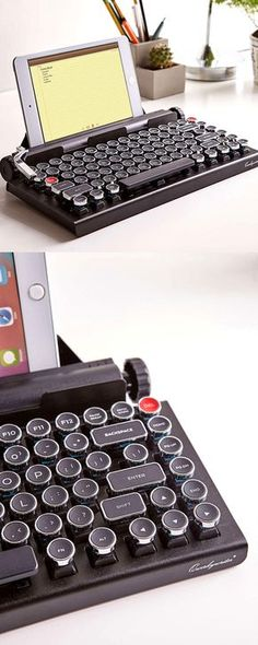 Bring back nostalgic memories. Enjoy this vintage keyboard while connecting wirelessly to any of your devices. Check it out==> | Qwerkywriter Wireless Typewriter Keyboard | http://gwyl.io/qwerkywriter-wireless-typewriter-keyboard/