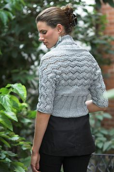 side to side knit shrug
