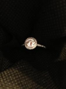Ritani Endless Love Round Diamond Engagement Ring AND wedding band.