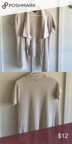 Knit t shirt cardigan Cream open knit t shirt cardigan top! Sweaters Cardigans