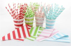 Find More Event & Party Supplies Information about Wholesale Party Products Stripe Paper Straw Paper Plate Paper Cup Napkin  ,High Quality Event & Party Supplies from Fairy Tales on Aliexpress.com