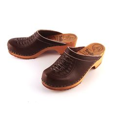 Vintage Leather Clogs from Pure Vintage Clothing