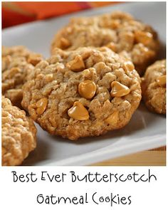 Prepared NOT Scared!: Mix Recipe #2: Best Ever Butterscotch Oatmeal Cookie! (COOKIE MIX AND INSTRUCTIONS)