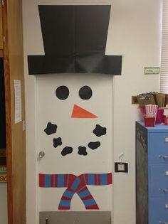 Classroom Double Door Winter Snowman Snowlady Snowgirl