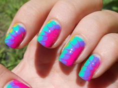 theinsidesource:  Tie-Dye Nails Spring, oh, Spring! We cannot...