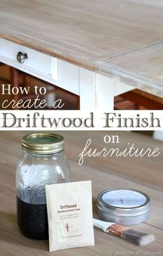 Furniture Makeover. Update a piece of wood furniture so it has the look of driftwood. | In My Own Style