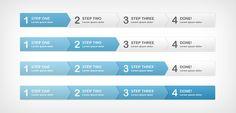 Step Process Panels (FREE PSD)