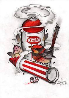 Graffiti Font, Graffiti Drawing, Graffiti Styles, Hipster Drawings, Spray Paint Cans, Traditional Art, I Tattoo, Old School, Street Art