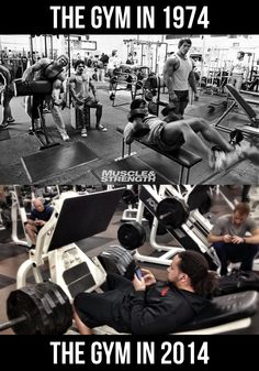 The gym in 1974 vs. the gym in 2014.  Which pic looks most like your gym?