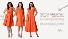 Affordable, customizable, dresses in sizes 0-36 and custom sizes and you can choose sleeve length and style, necklines, and hemlines. They have lots of pretty styles in the $50-80 range This seems like a really good idea for bridesmaid dresses if you have more than one attendant