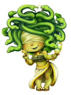 Gorgon by Kiwiggle | Golden Harlequin, Mythical Creatures | http://www.kiwiggle.co.uk/#!Gorgon.png/zoom/chu2/i312n0