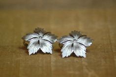 Vintage Trifari Clip On Earrings  Silver by LittleGhostVintage, $10.00