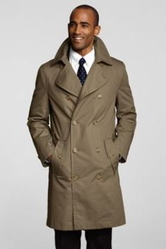 Men's Trench Coat from Lands' End Please share and repin #LADY #STYLES