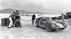 fast car on salt