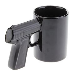 "Gun Mug // gives new meaning to a ""shot"" of espresso! #product_design"