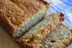 Super moist banana bread recipe. I cut the sugar a little and added chocolate chips.