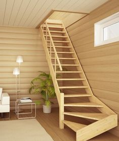 Another option for stairs in the guest unit