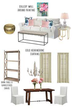 Michigan Apartment: Living Room Design Plan