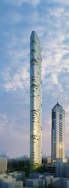Imperial Tower 3, Mumbai, India by Adrian Smith + Gordon Gill Architecture, 116 floors, height 400m