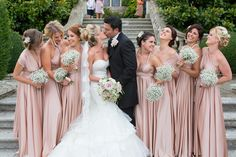 Rosewater twobirds Bridesmaid multiway,convertible twist wrap dresses   Image by Dottie Photography